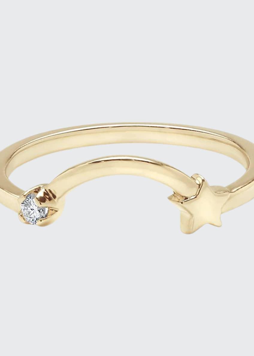 Andrea Fohrman 14k Shooting Star 1-Diamond Ring, Size