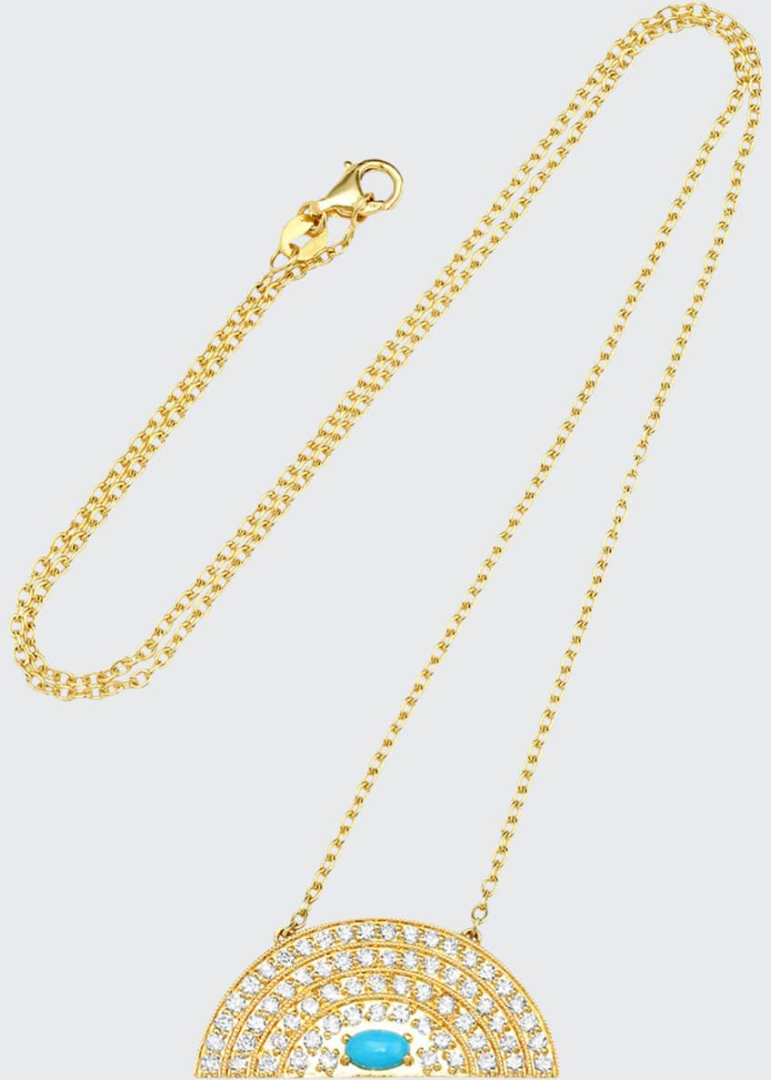 Andrea Fohrman 18k Medium Rainbow Necklace