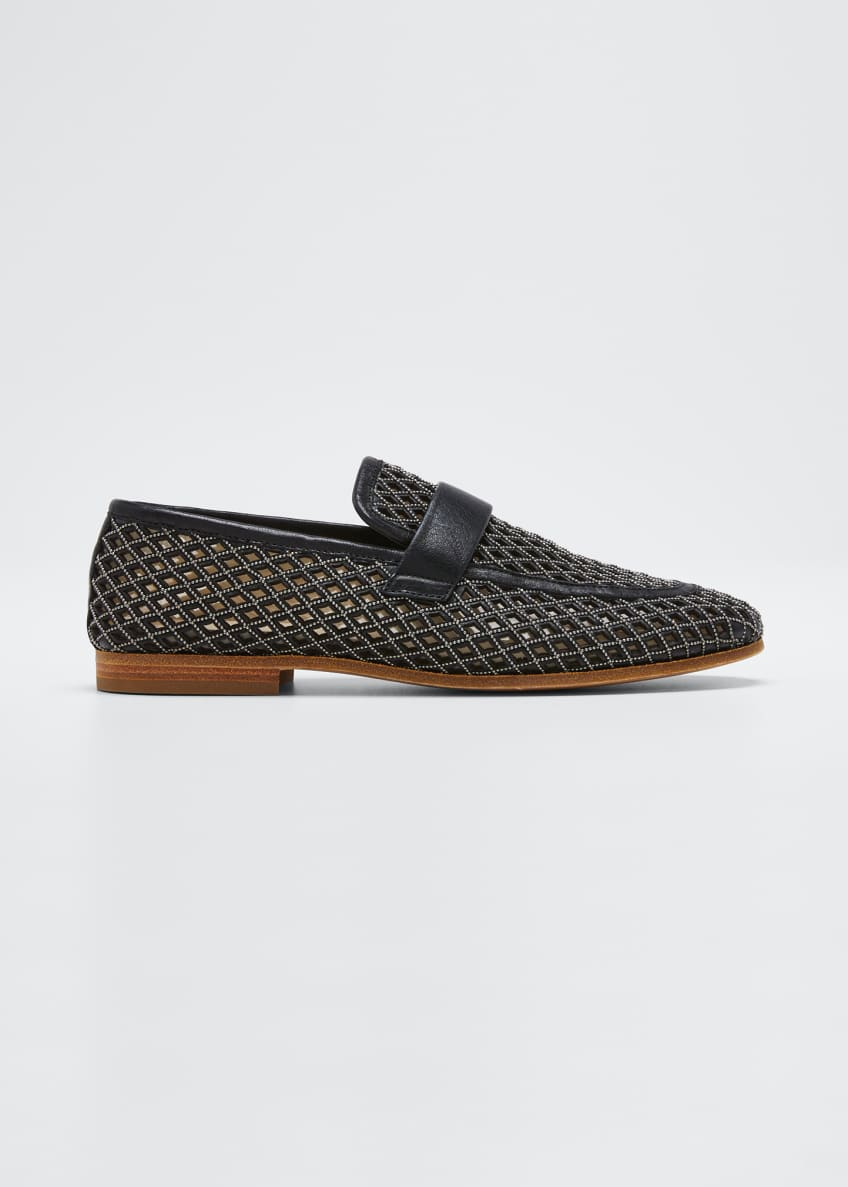 Image 1 of 3: Monili Leather Laser-Cut Loafers