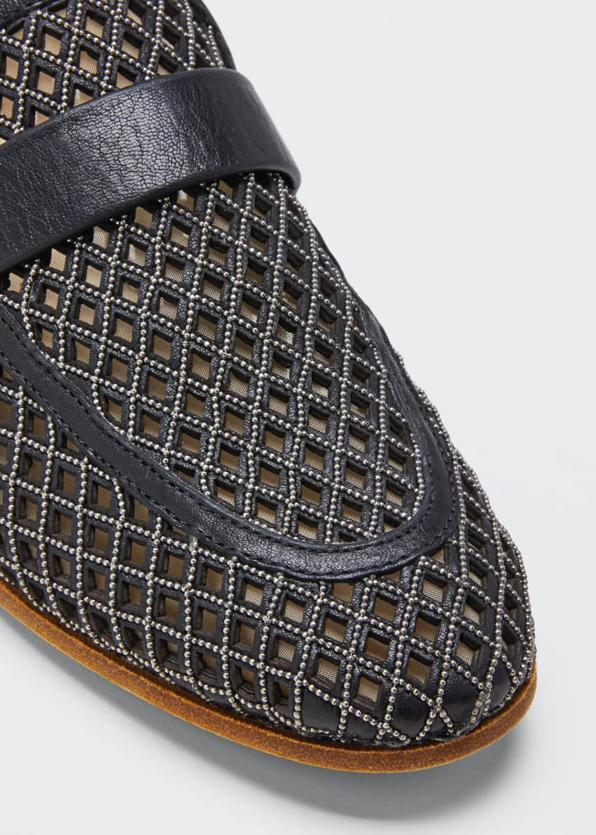 Image 3 of 3: Monili Leather Laser-Cut Loafers
