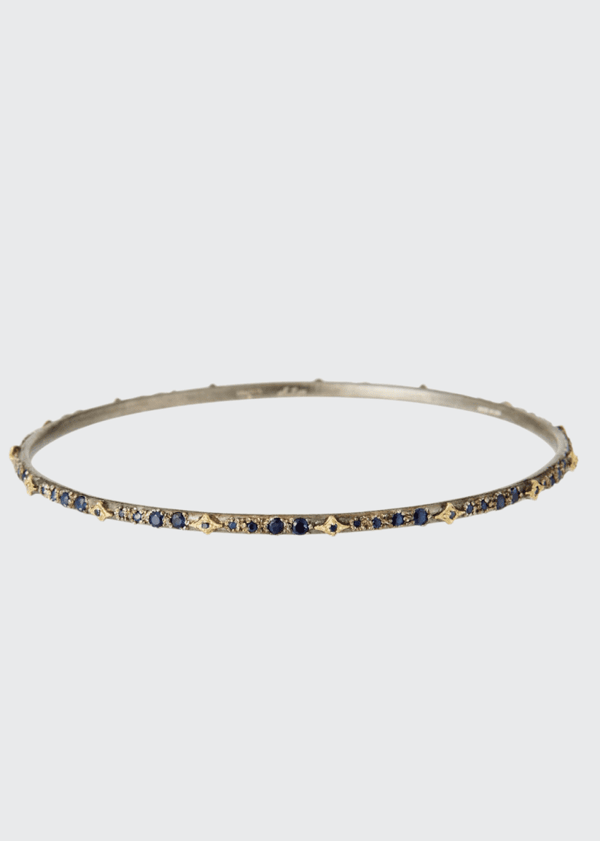 Image 1 of 2: Old World Blue Sapphire Crivelli Bangle