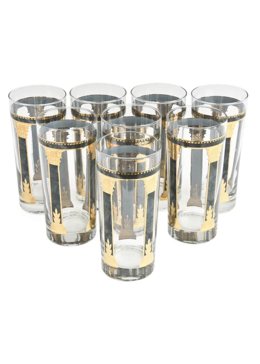 Devonia Antiques Vintage Highball Glasses, Set of 8
