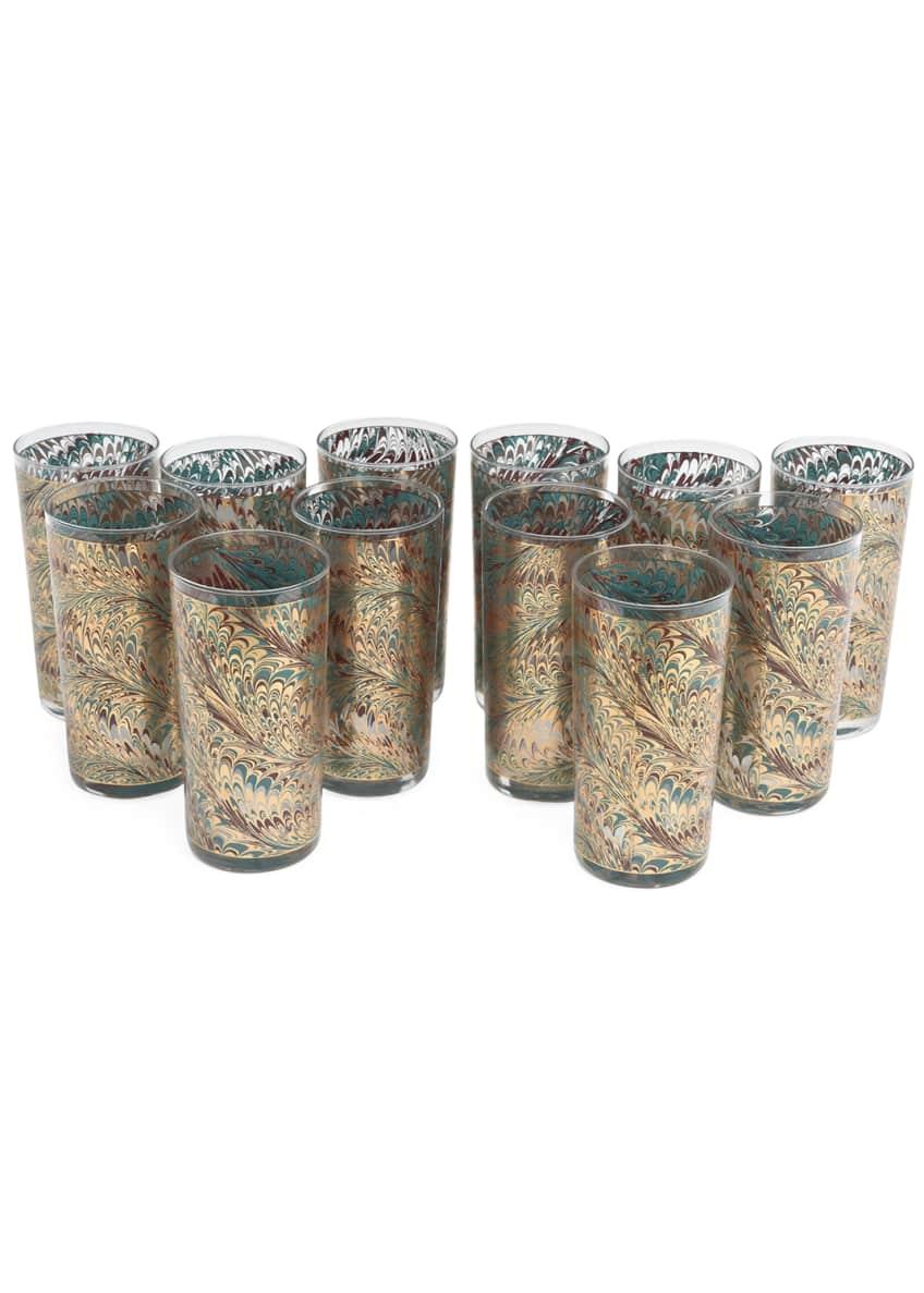 Devonia Antiques Vintage Bar Highball Glasses, Set of