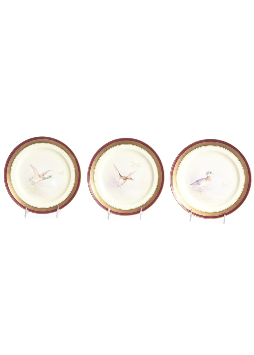 Image 2 of 5: Antique Game Bird Plates, Set of 12