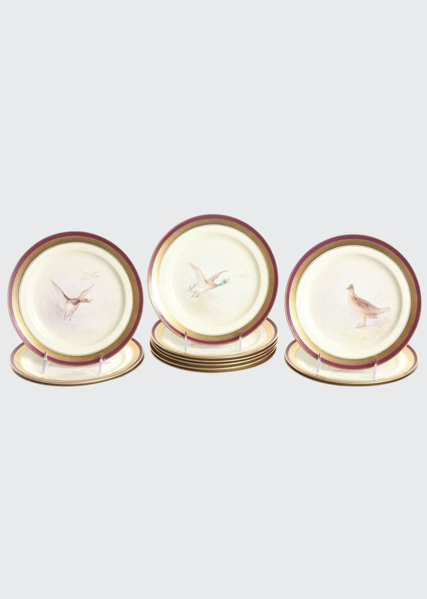 Image 1 of 5: Antique Game Bird Plates, Set of 12