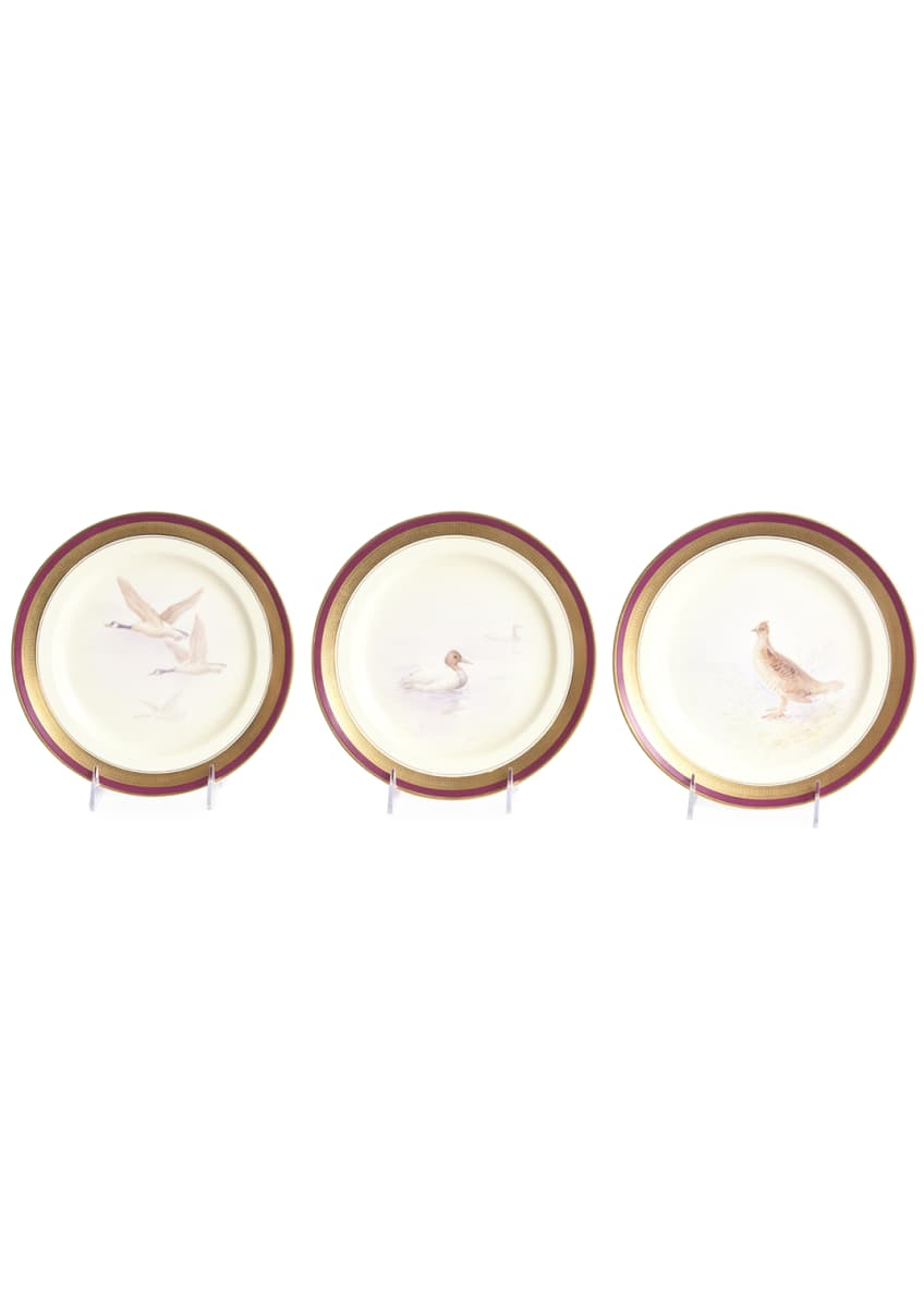 Image 5 of 5: Antique Game Bird Plates, Set of 12