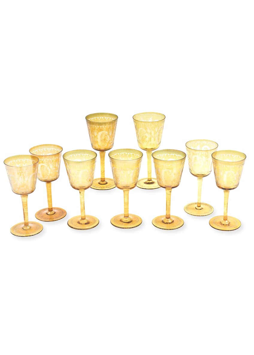 Devonia Antiques Antique Stag Goblets, Set of 9