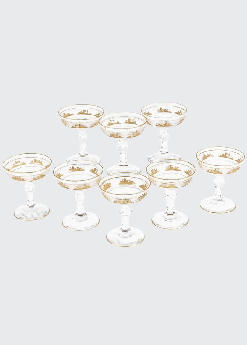 Image 1 of 5: Champagne Coupes, Set of 8