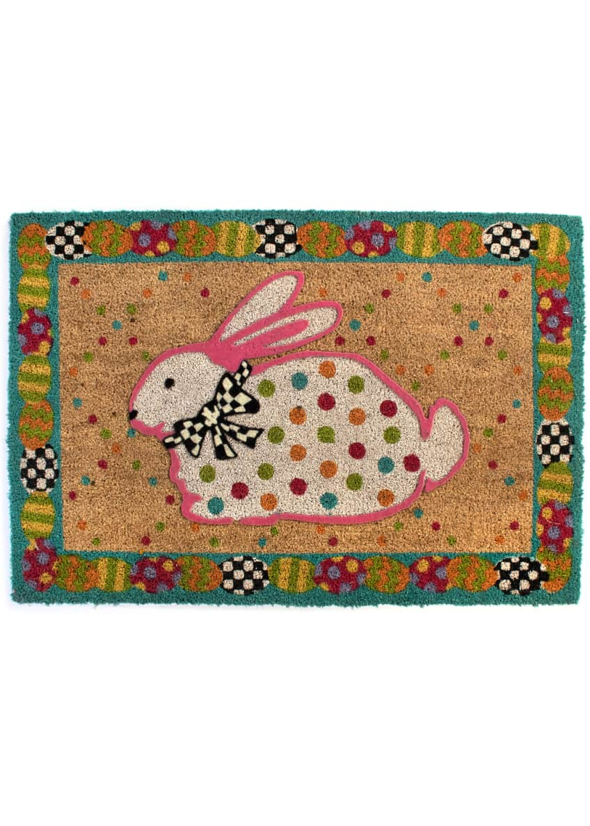Image 1 of 1: Dotty Bunny Entrance Mat