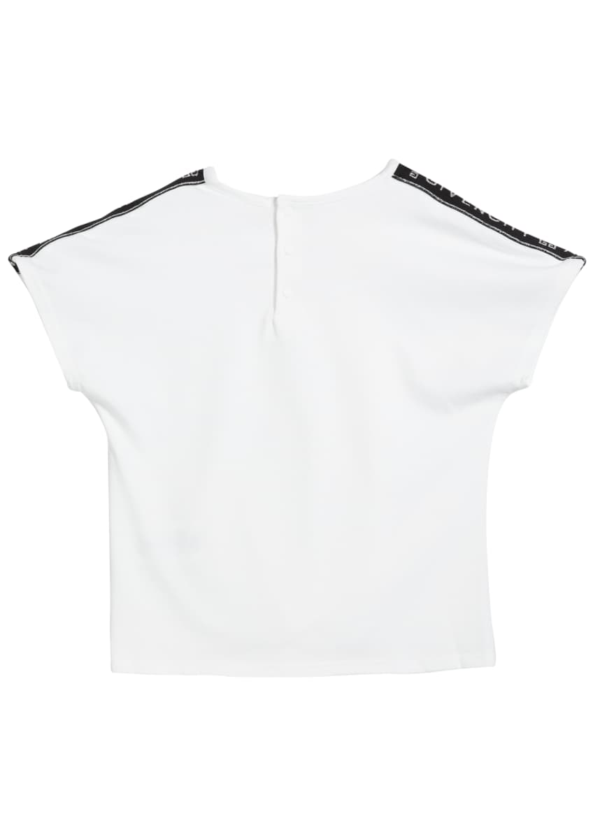Image 2 of 4: Girl's Logo Shoulder Tie-Front Tee, Size 2-3