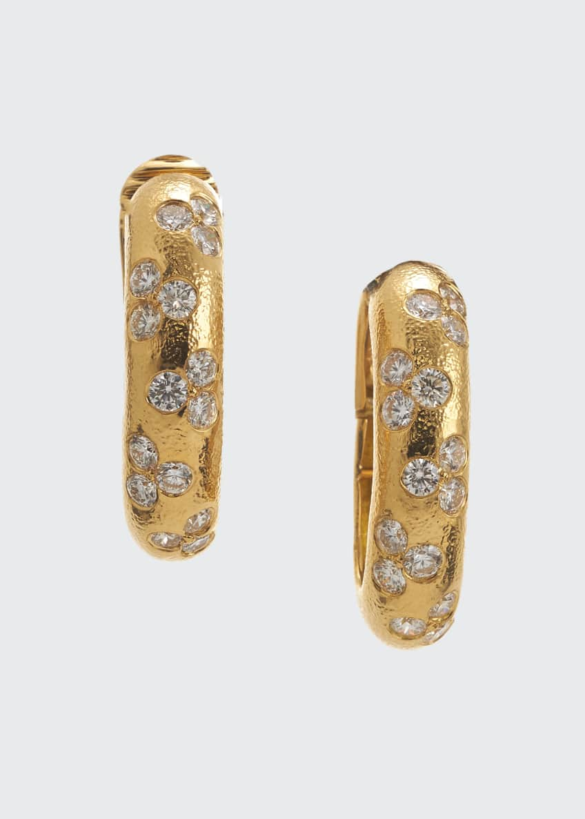 18k Brilliant Diamond Hoop Earrings