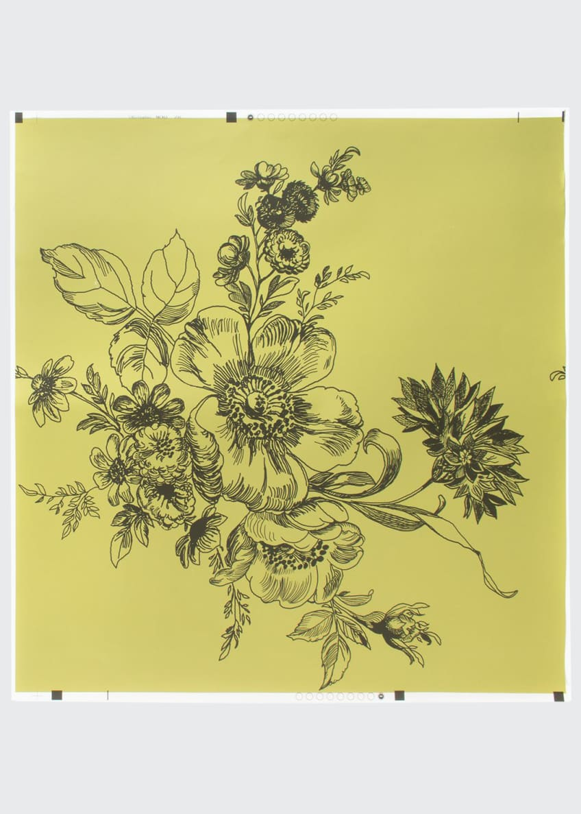 Image 1 of 1: Wild Rose Chartreuse Wallpaper