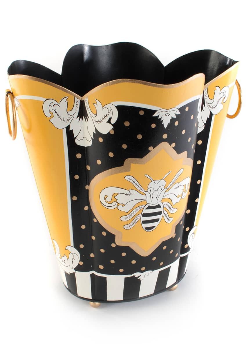 Image 1 of 1: Queen Bee Wastebasket