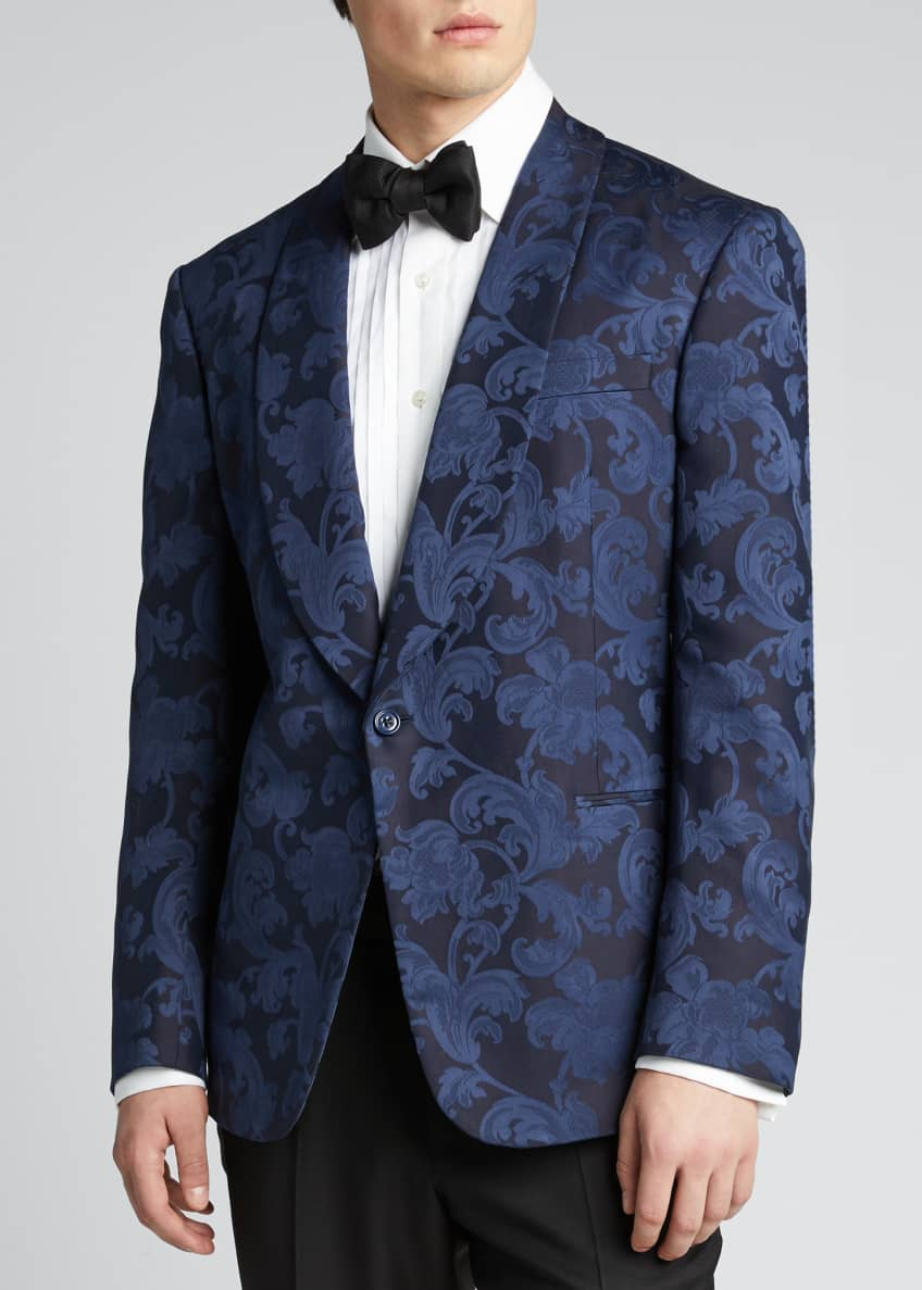 Image 3 of 5: Men's Silk Jacquard Dinner Jacket