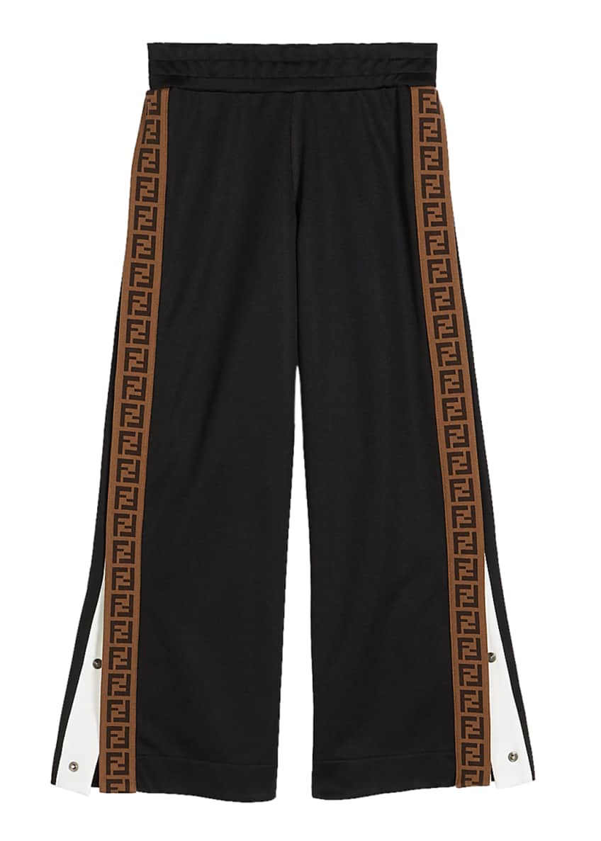 Image 1 of 2: Boy's Track Pants with Logo Side-Trim, Size 4-6