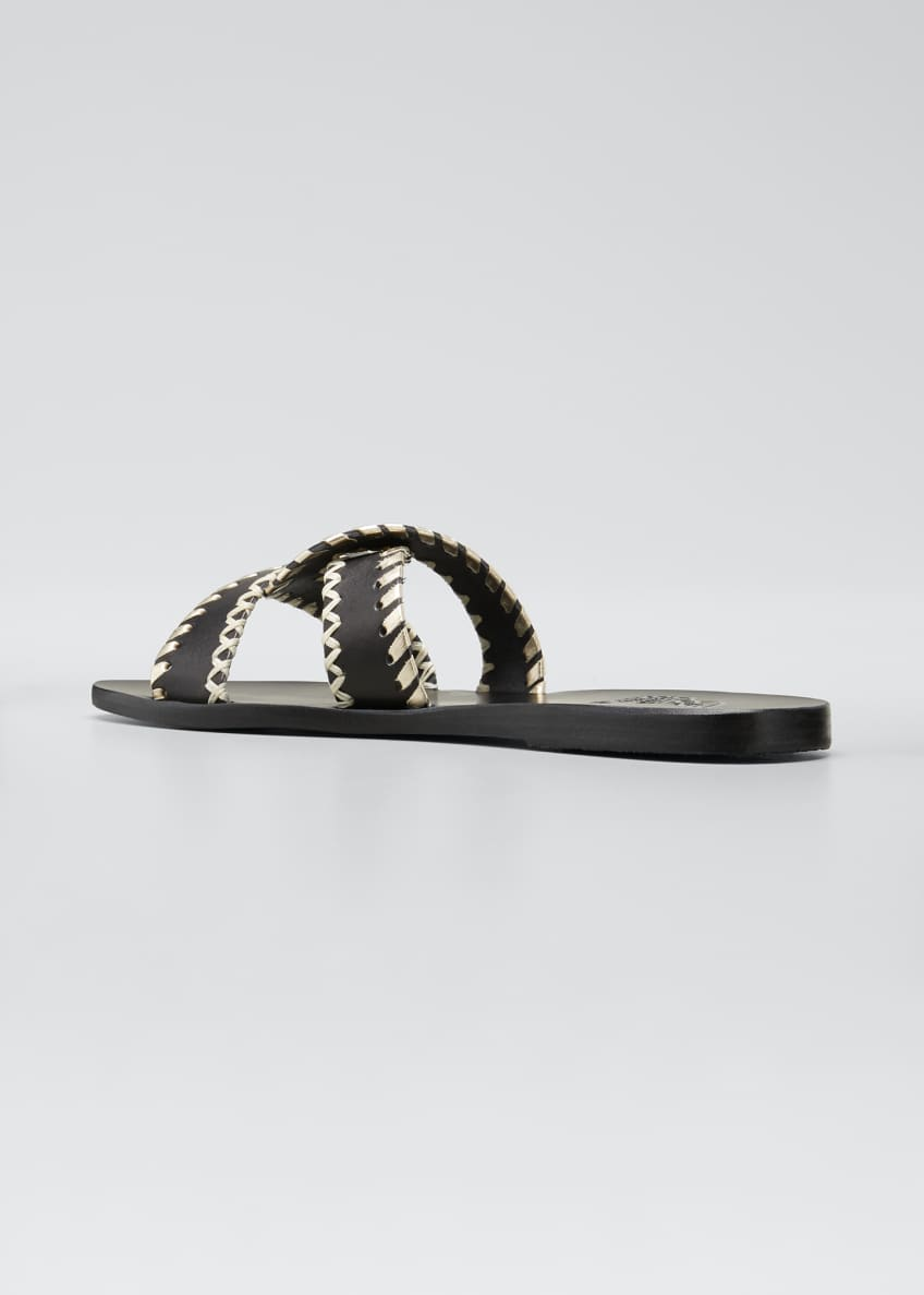 Image 4 of 5: Desmos Stitch Cross Flat Slide Sandals