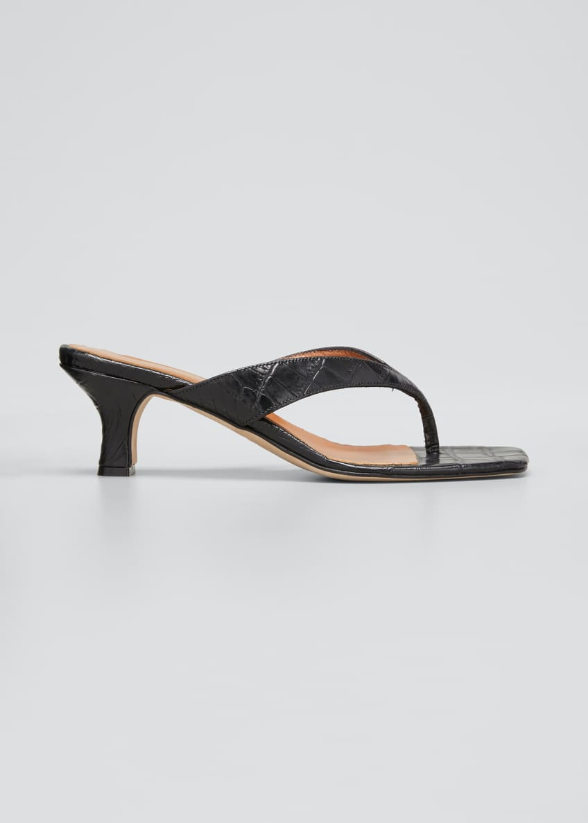 Image 1 of 3: 45MM Moc Croco Thong Sandals