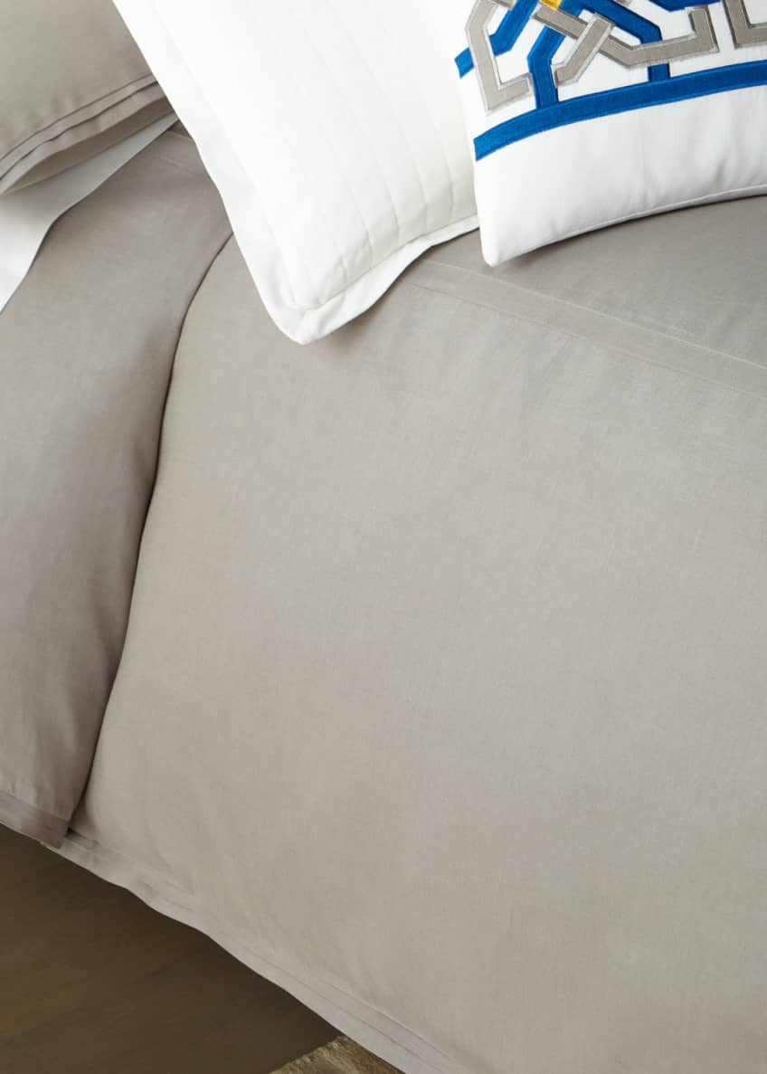 Image 1 of 1: Cassandre Linen Queen Duvet Cover