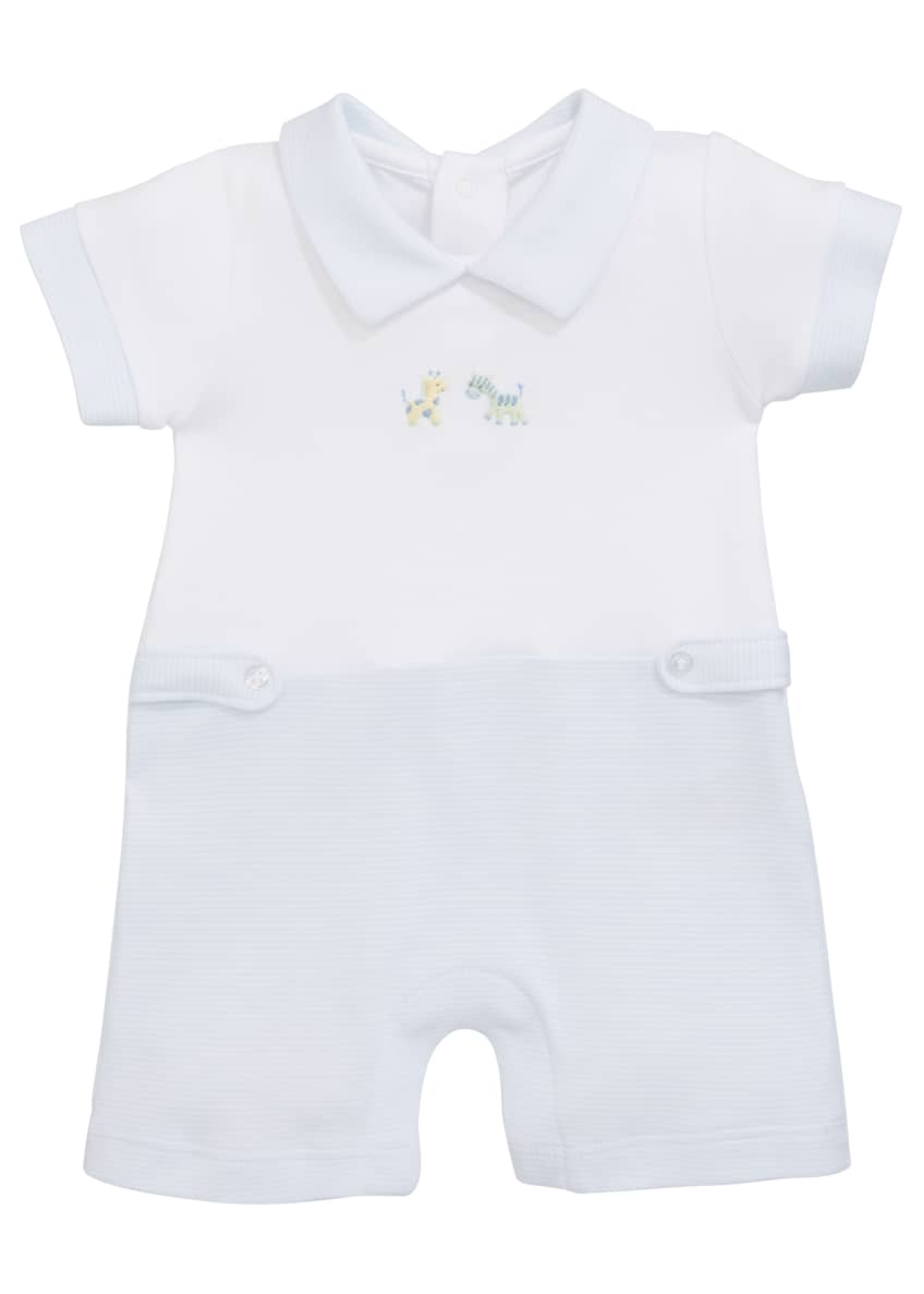 Image 1 of 2: SCE Jungle Fun Short-Sleeve Playsuit, Size 3-18 Months