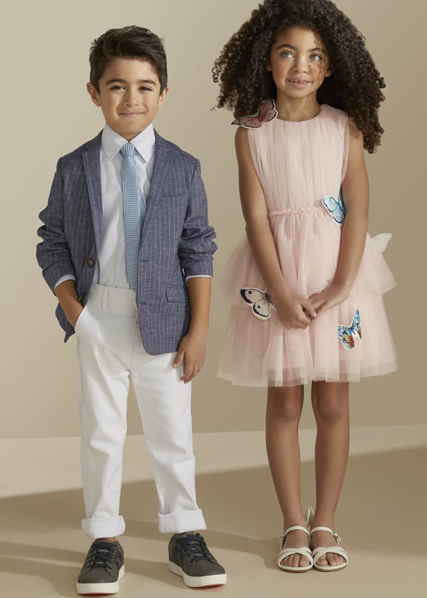 Image 2 of 5: Girl's Isabella Tulle Butterfly Dress, Size 4-5