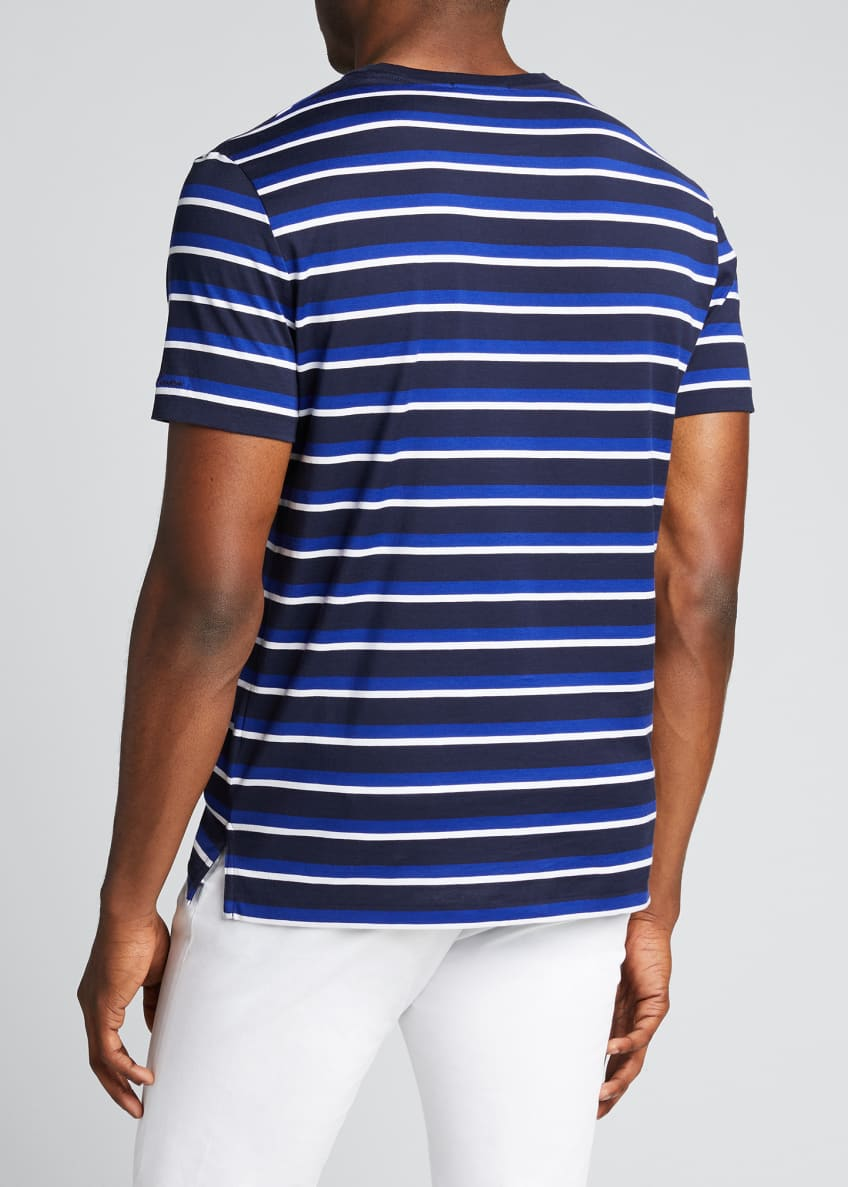 Image 2 of 4: Men's M6 Striped Short-Sleeve T-Shirt