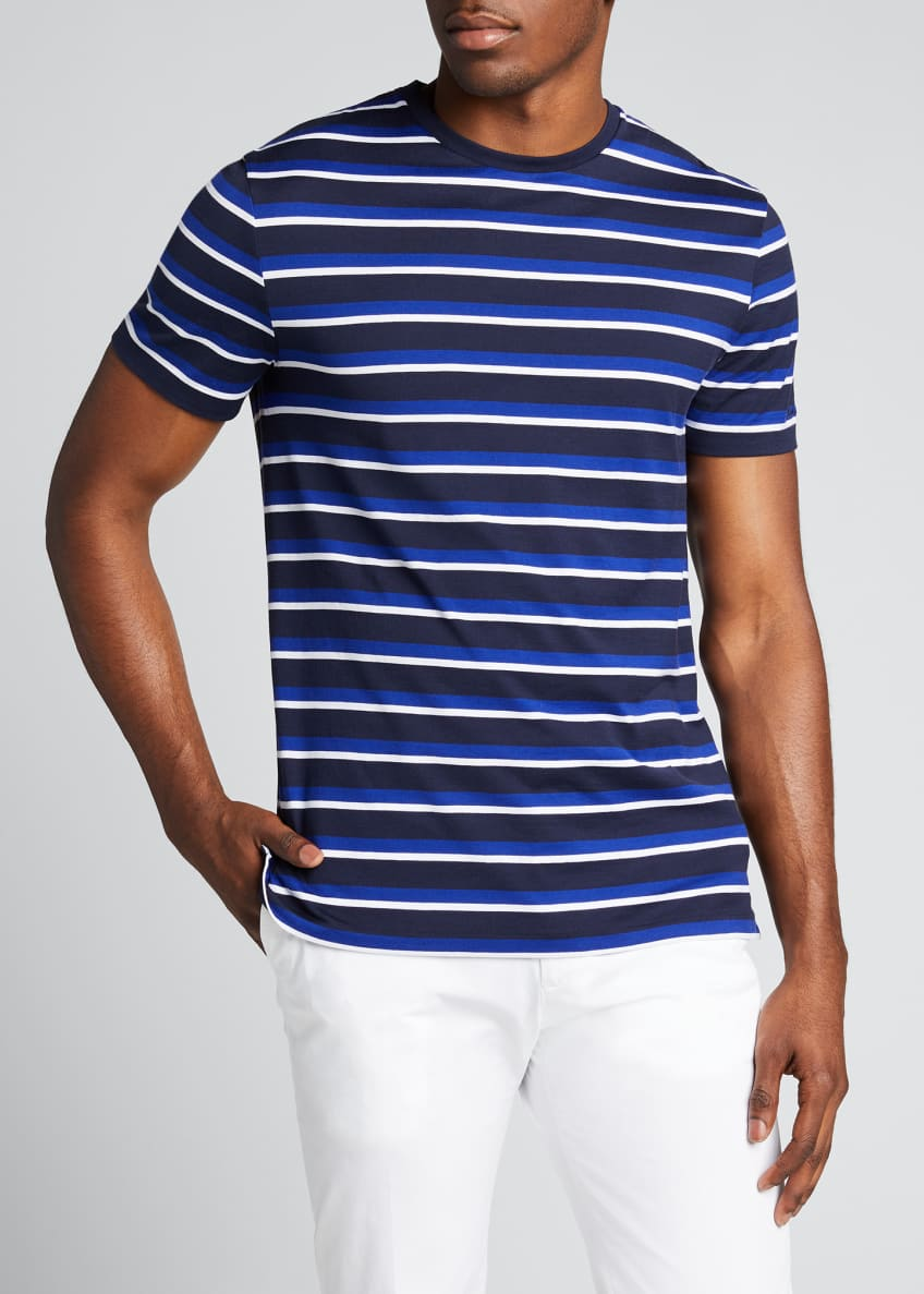 Image 3 of 4: Men's M6 Striped Short-Sleeve T-Shirt