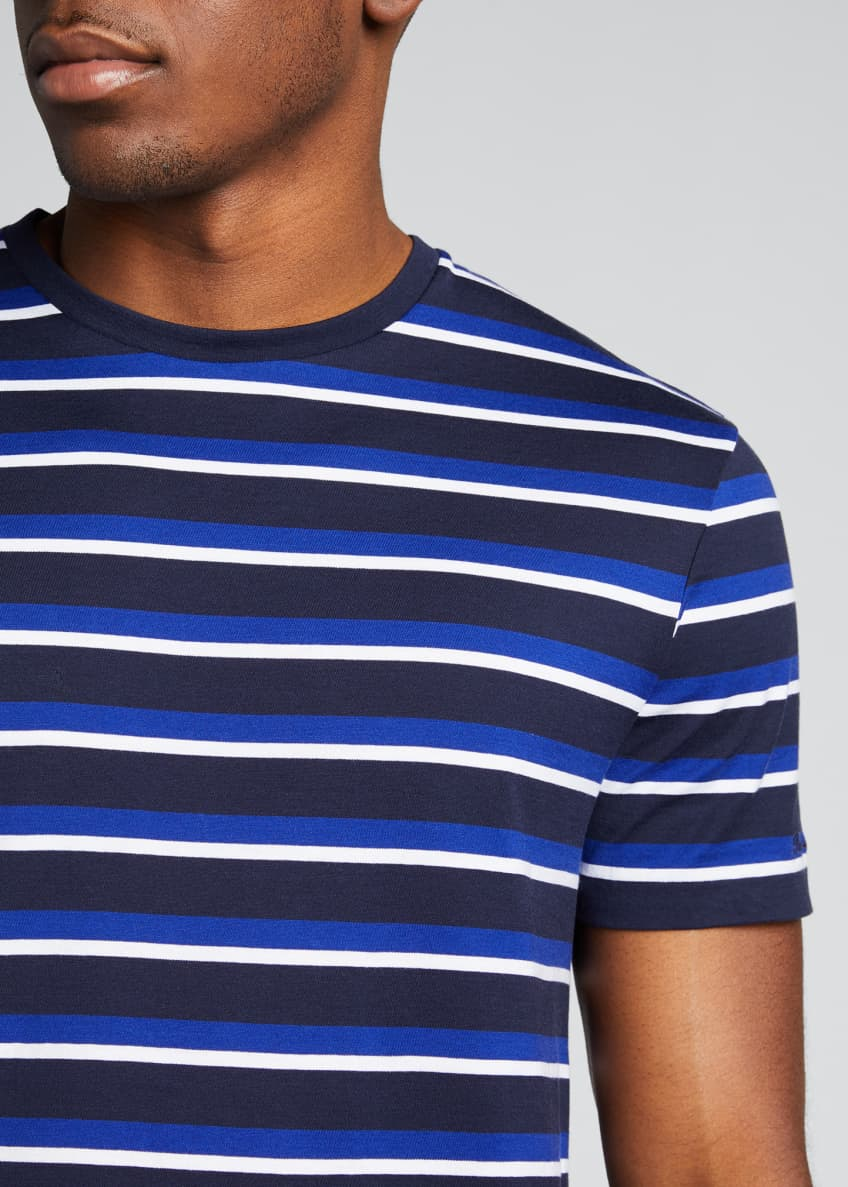 Image 4 of 4: Men's M6 Striped Short-Sleeve T-Shirt
