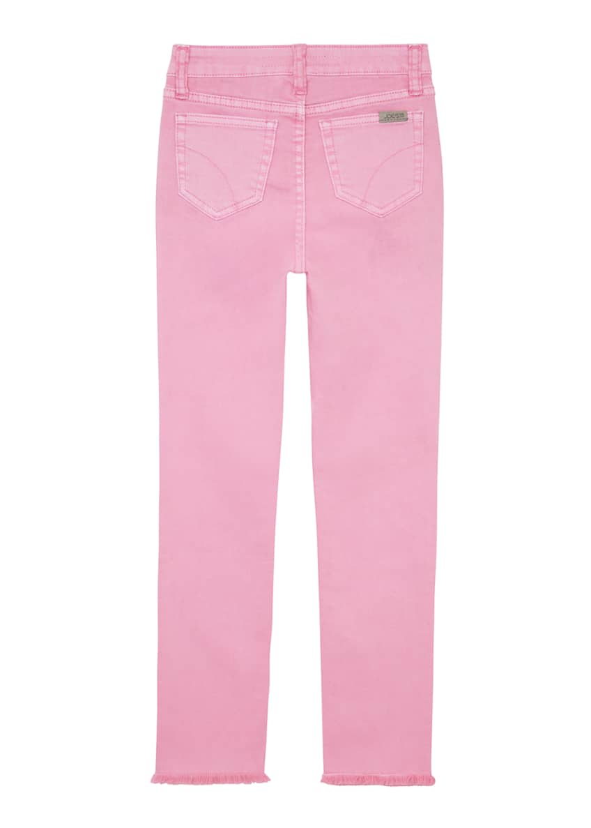 Image 2 of 4: Girl's Neon Dyed Raw-Hem Twill Skinny Jeans, Size 4-6X