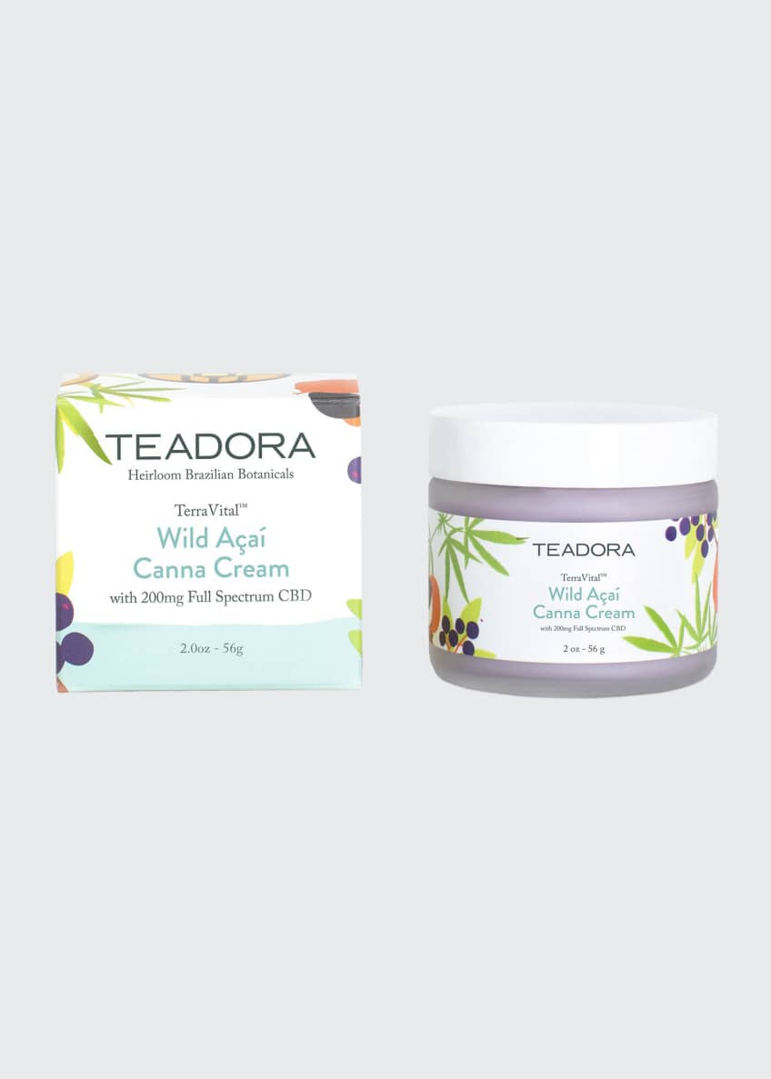 Teadora TerraVital Wild Acai Canna Cream with 200 mg of Full Spectrum CBD, 2 oz./ 56 g - Bergdorf Goodman