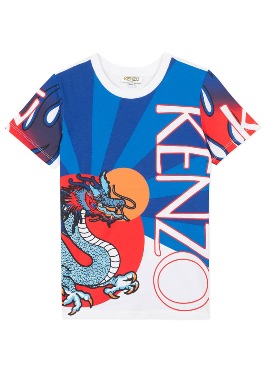 Image 1 of 6: Boy's Dragon Print T-Shirt, Size 2-6