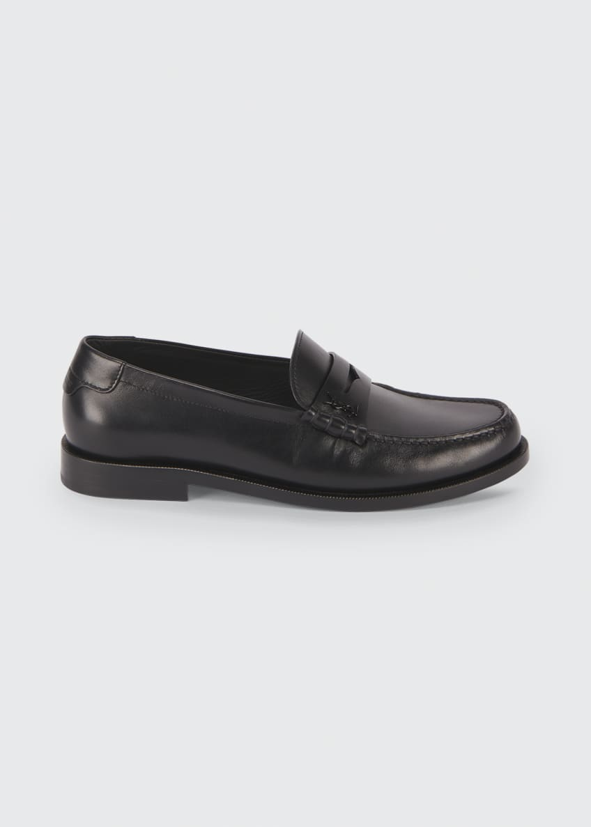 Image 1 of 3: Pierre Leather Penny Loafers
