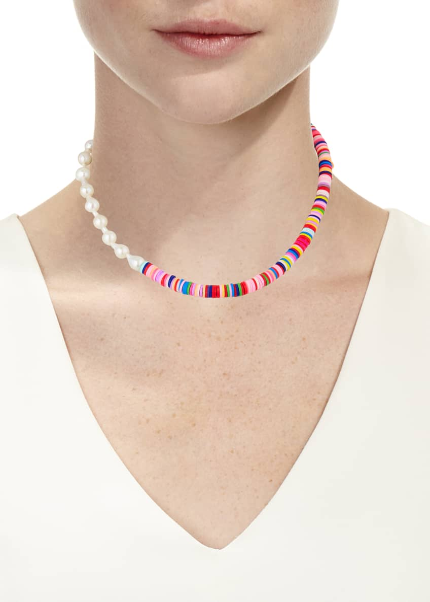 Image 2 of 2: Monica Pearl and Bead Necklace