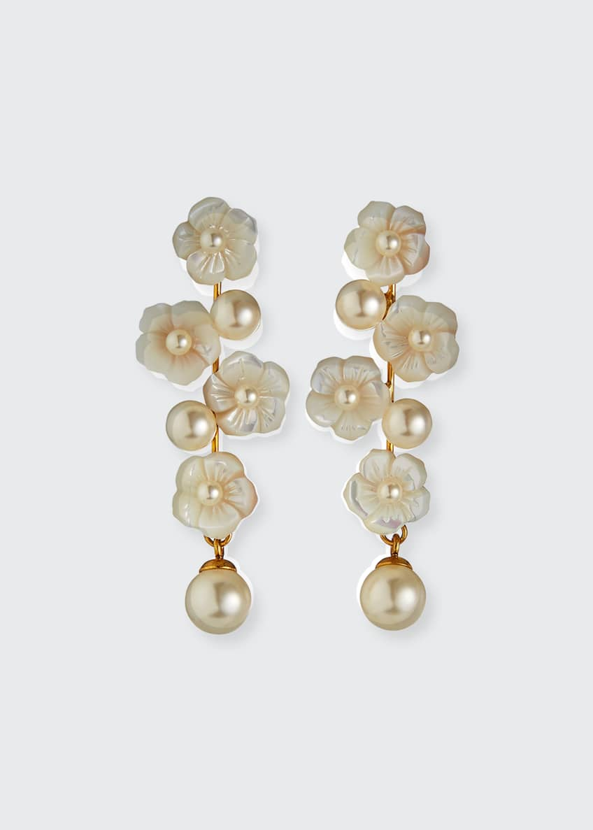 Image 1 of 2: Calissa Pearly Earrings