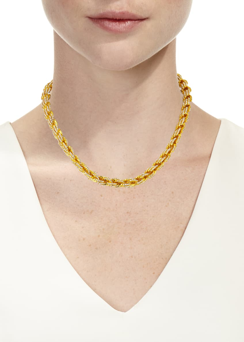 Image 2 of 2: Pave Rope Chain Necklace