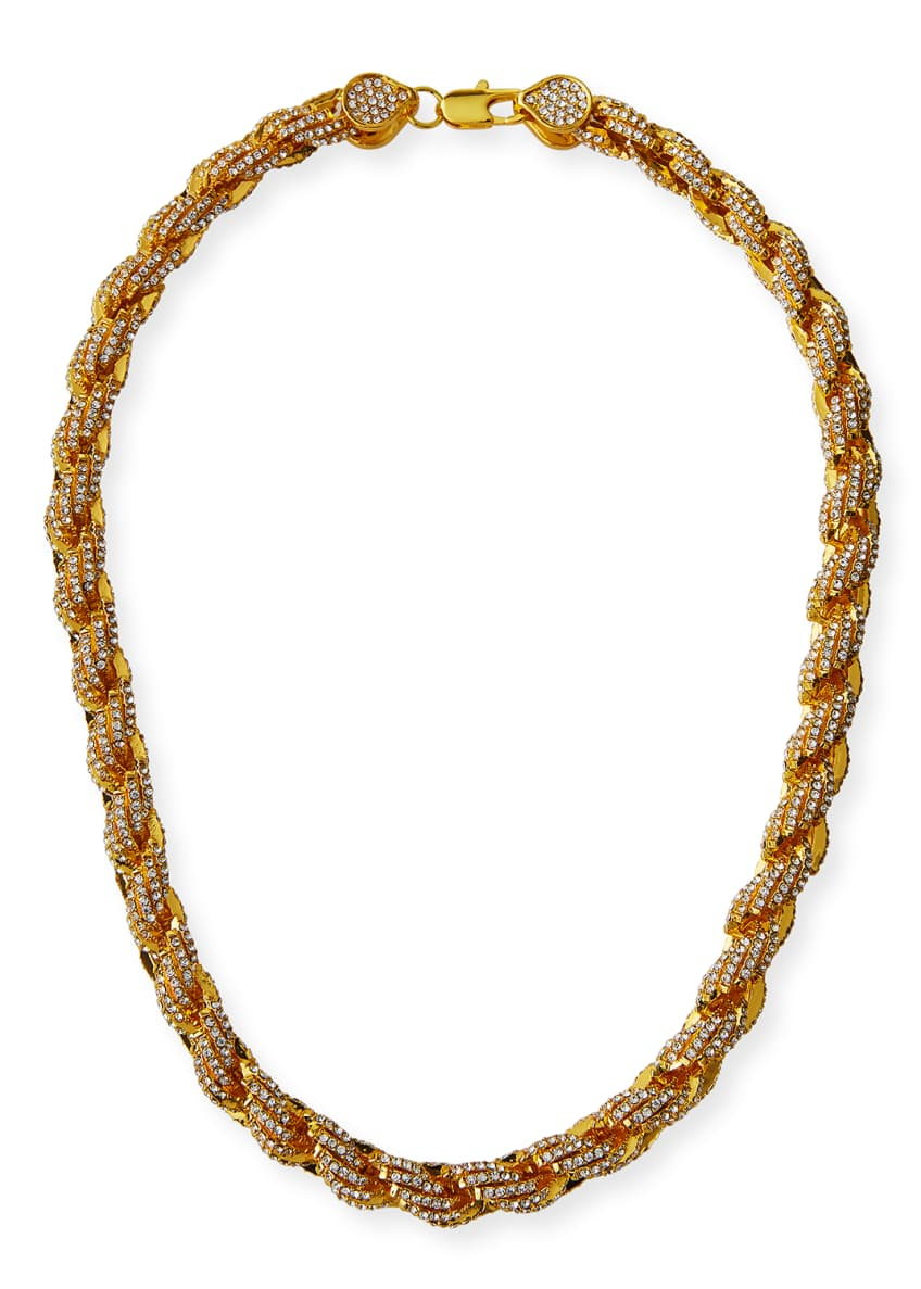 Image 1 of 2: Pave Rope Chain Necklace