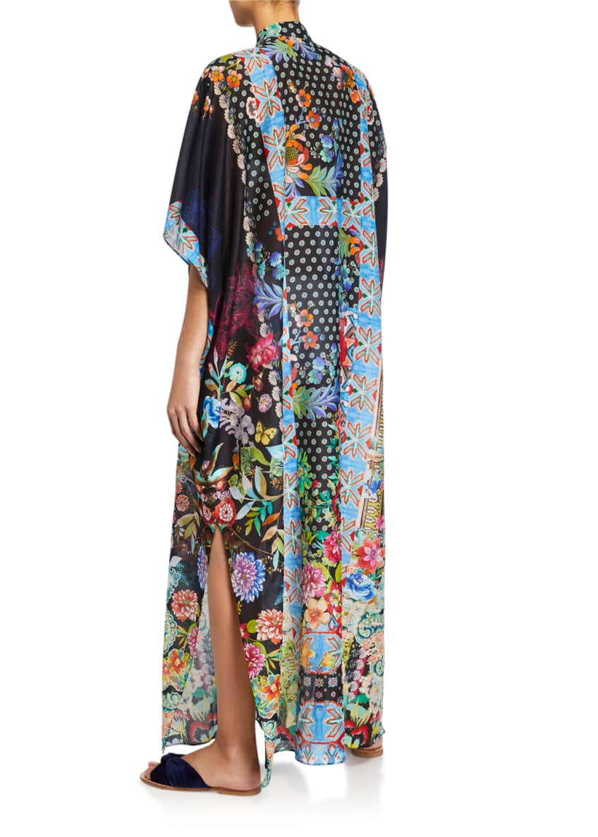 Image 2 of 2: Dreamer Long Kaftan Coverup