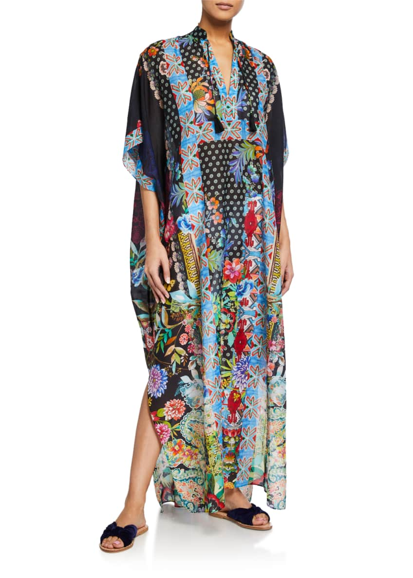 Image 1 of 2: Dreamer Long Kaftan Coverup