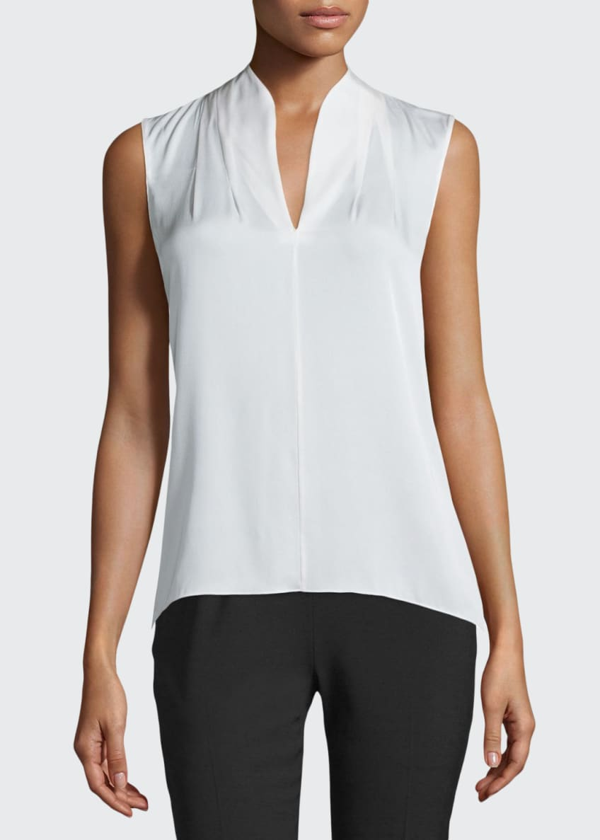 Elie Tahari Judith Sleeveless Silk Blouse & Juliette