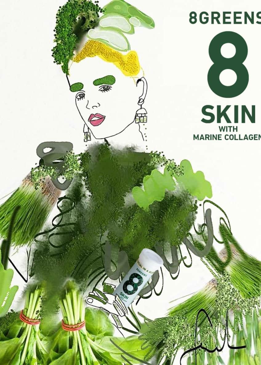 8 Greens Skin Supplement with Marine Collagen, 6 Pack - Bergdorf Goodman