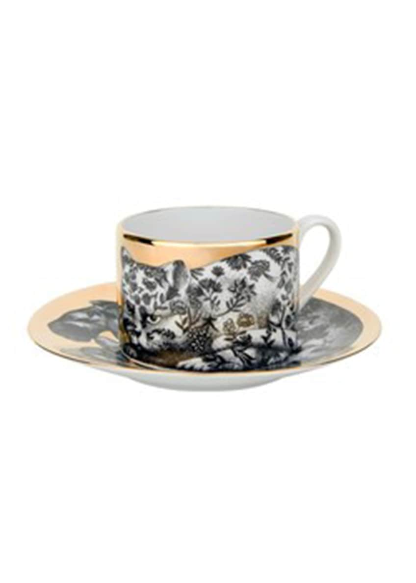 Image 1 of 1: Tea Cup High Fidelity Floral Cat