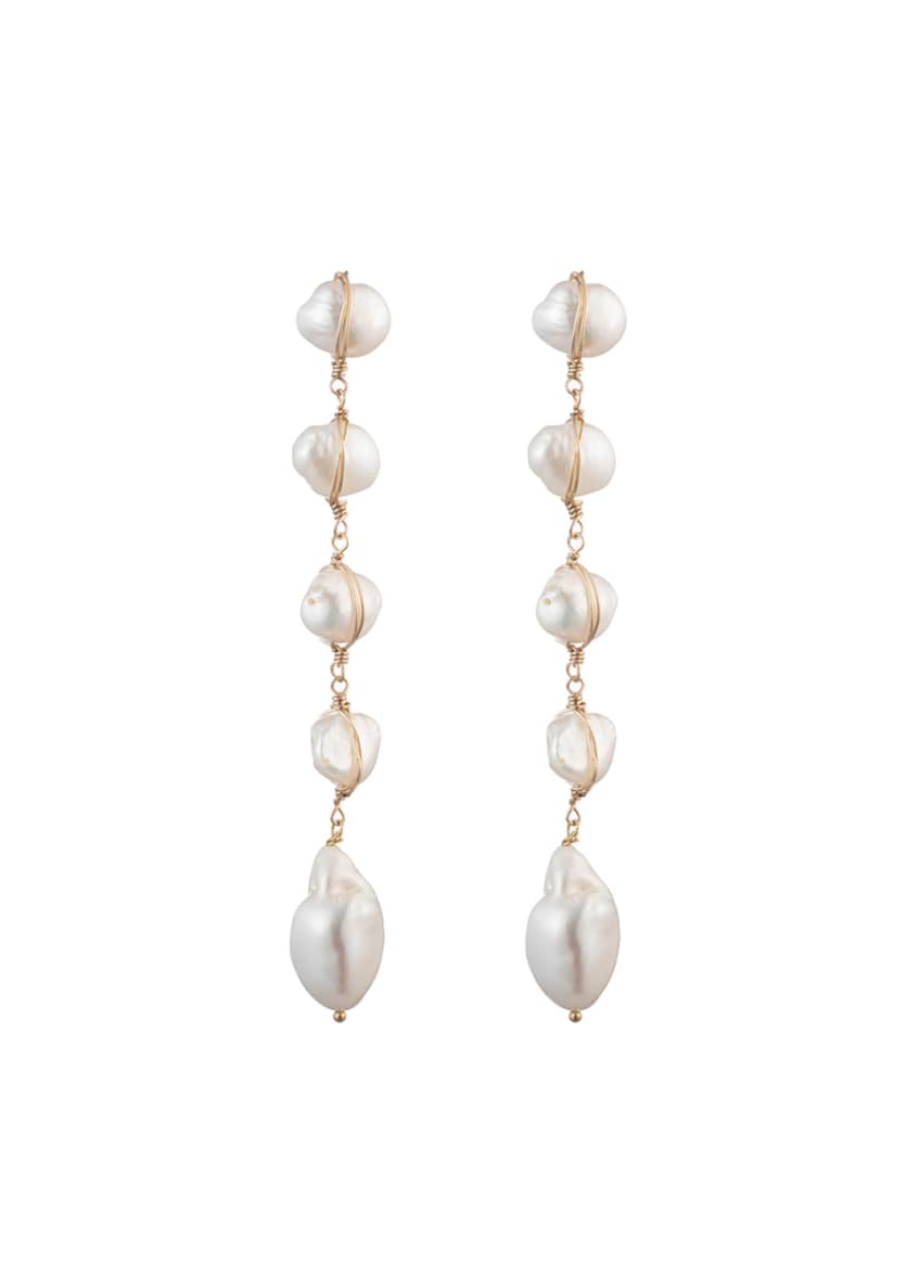 Image 1 of 1: Pari Pearl Dangle Earrings