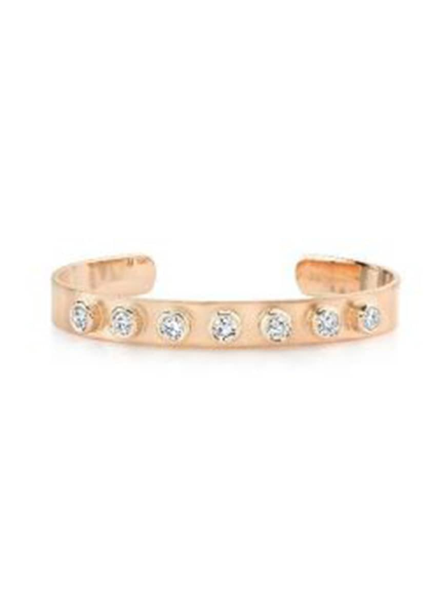 Image 1 of 1: 18k Rose Gold 7mm Cuff Set W Full C
