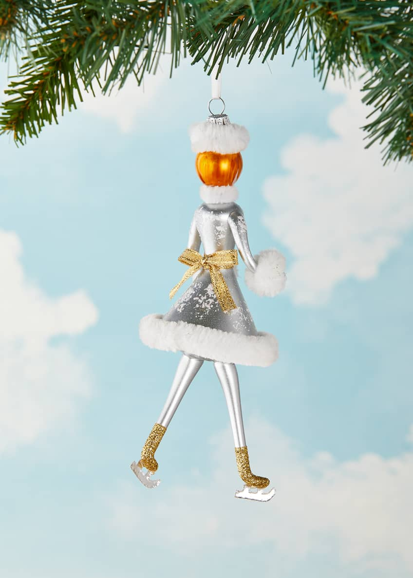 Image 2 of 2: Skater Lady Christmas Ornament