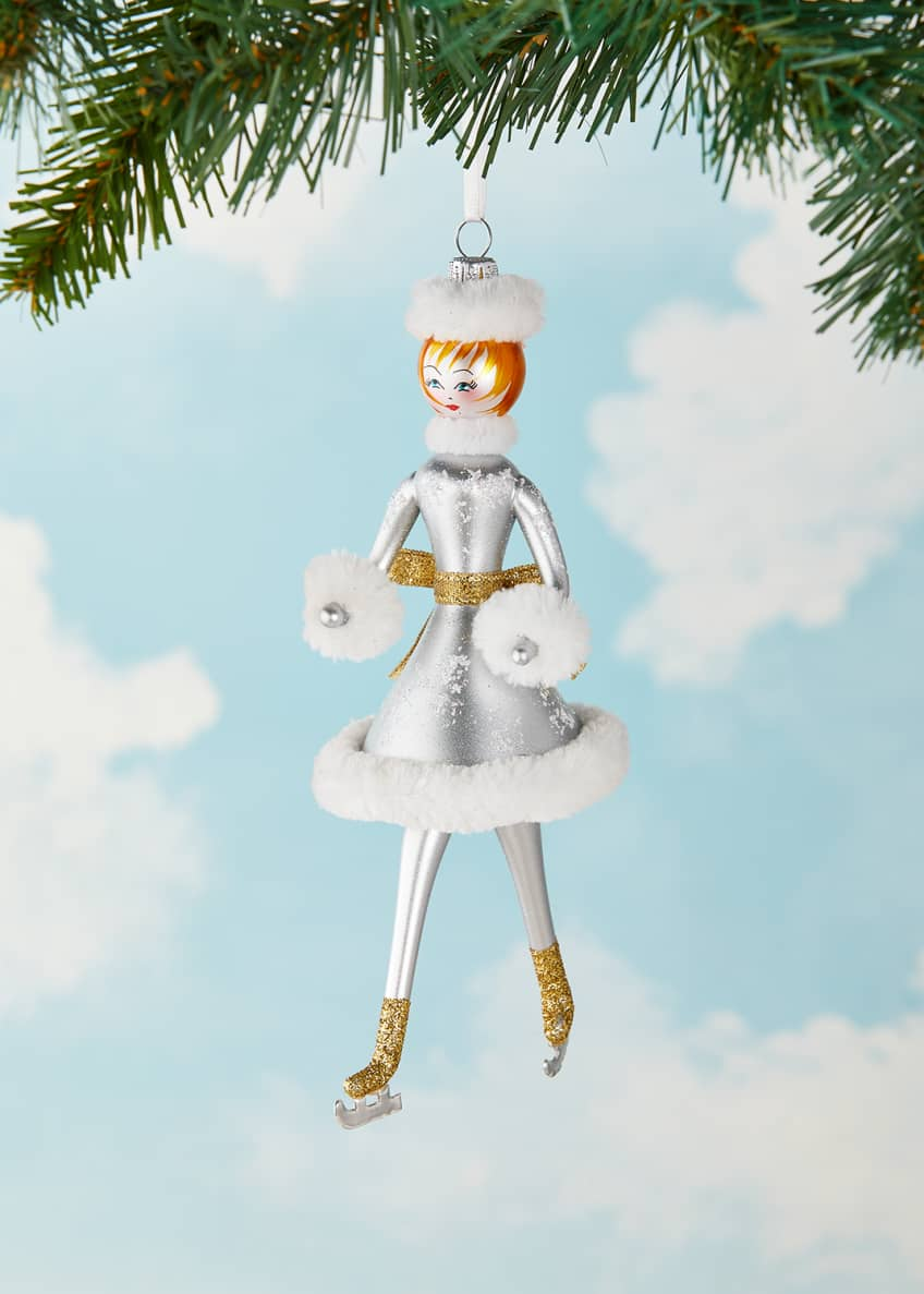 Image 1 of 2: Skater Lady Christmas Ornament
