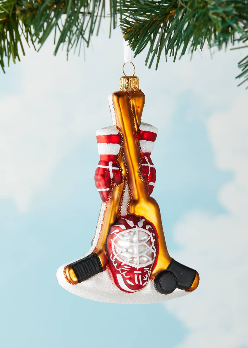 Image 2 of 2: Hockey Gear Christmas Ornament