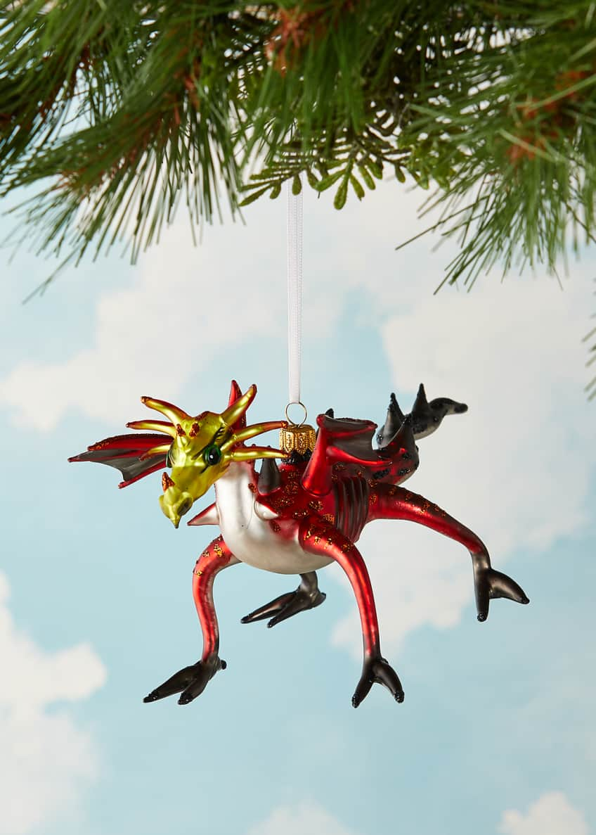Image 2 of 3: Dragon Christmas Ornament