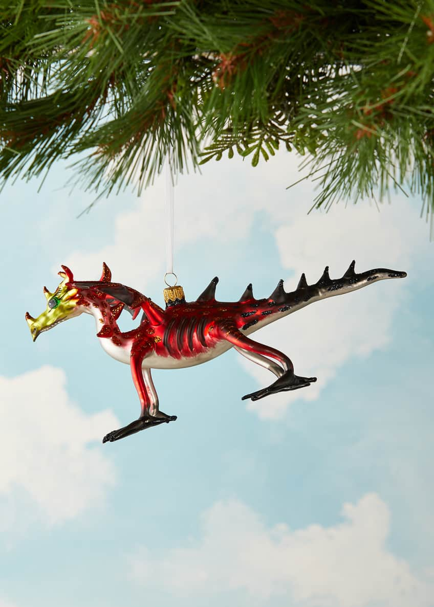 Image 3 of 3: Dragon Christmas Ornament
