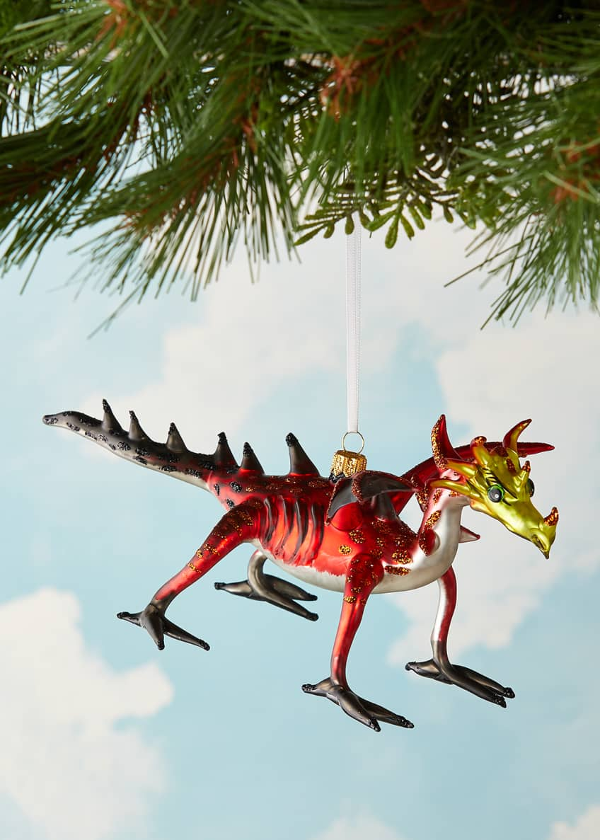 Image 1 of 3: Dragon Christmas Ornament