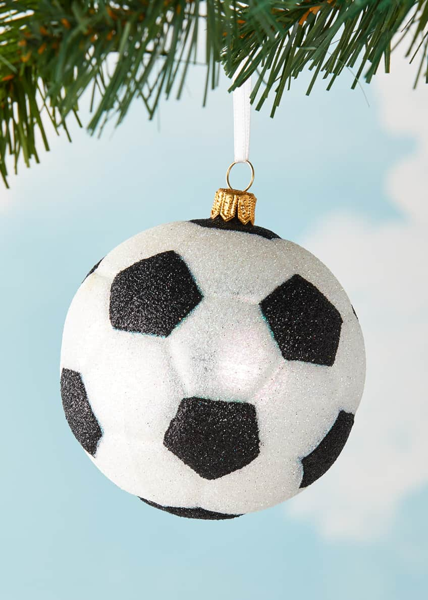 Image 1 of 1: Soccer Ball Christmas Ornament