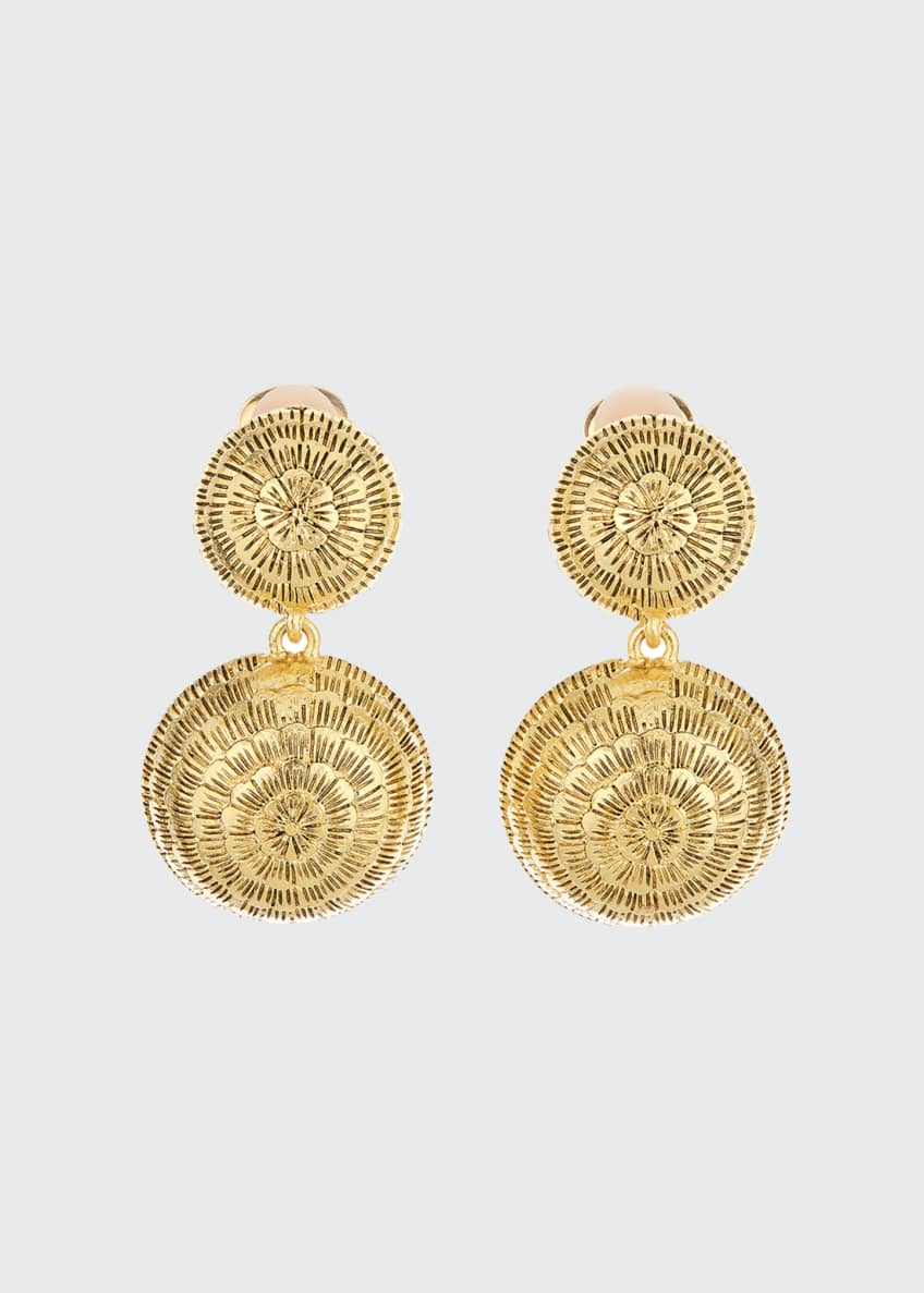 Image 1 of 1: Double-Dome Clip Earrings